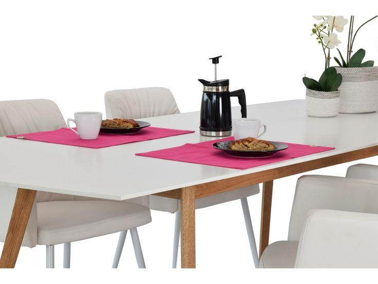 MILLIE Förlängningsbart bord 180 Vit/Ek - Matbord - Bord - Inom