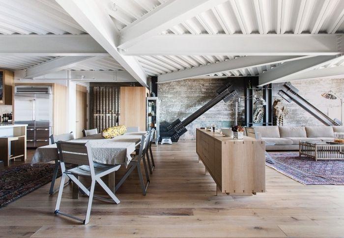 1001 Idees Pour Integrer La Poutre Apparente Dans Son Interieur Mobilier De Salon Amenagement Salon Interieur Design