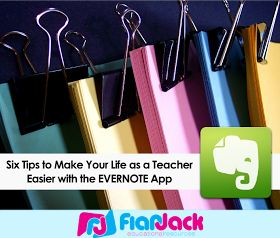 Get your classroom organized with Evernote - it's been a lifesaver for me as a teacher!
