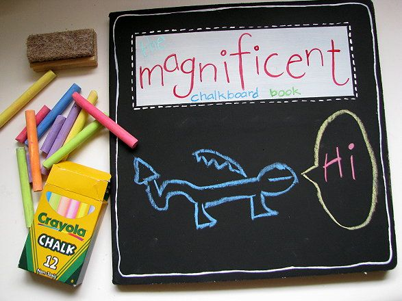 Chalkboard board book.Kids Stuff, Chalkboards Painting, Gift Ideas, Chalkboard Paint, Chalk Boards, Travel Toys, Activities Book, Make A Chalkboards, Chalkboards Book