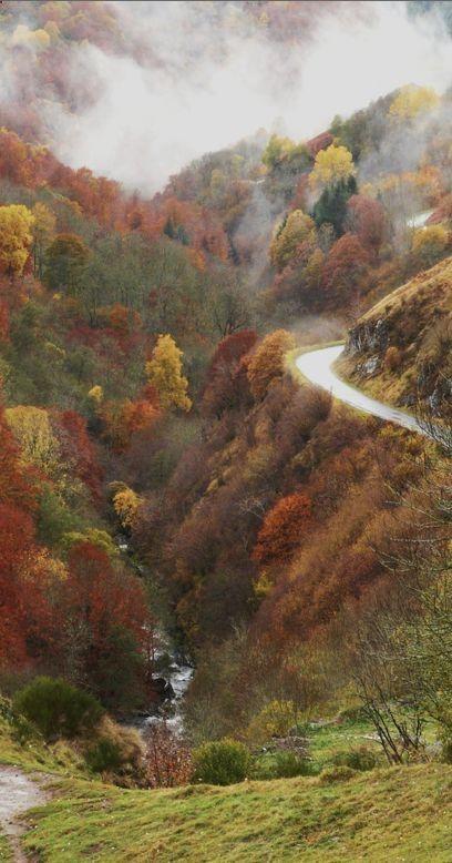 La valle de la Santoire in Auvergne, France.