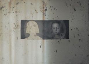 Innocence III., assemblage, 28 x 37 cm, 2002