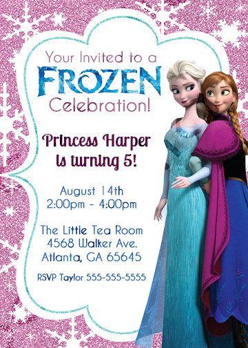 101 best party ideas - disney's frozen invites images on pinterest, Birthday invitations