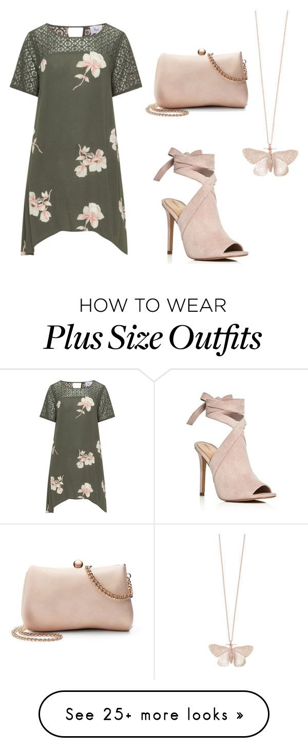 """Color Combo: Blush and Gray"" by sassyladies on Polyvore featuring Zizzi, Kendall + Kylie, Alex Monroe, LC Lauren Conrad and plus size clothing"