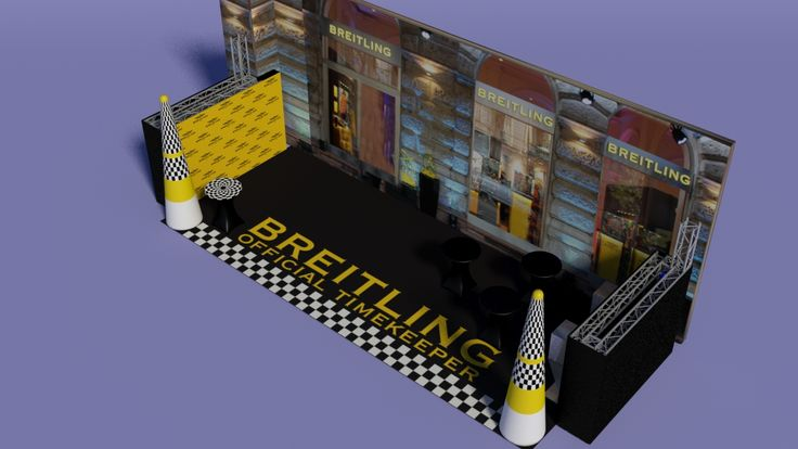 Breitling Red Bull Air Race party - visual plan, designed by www.masztodon.hu