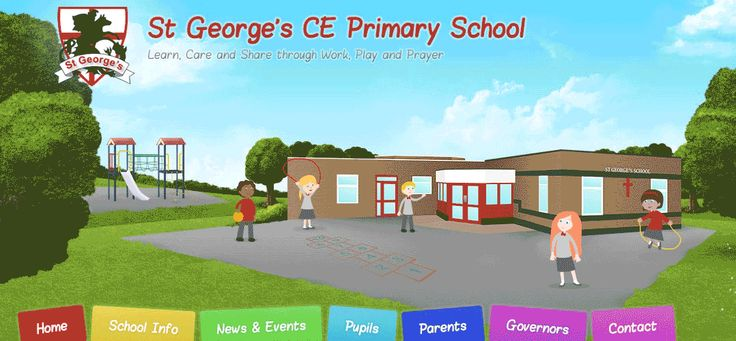 St Georges CE Primary School - animated website