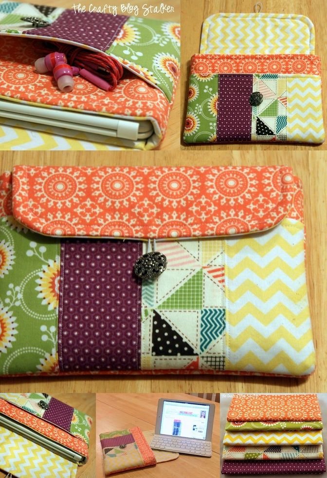 DIY Sewing Pattern Case for your ipad, ipad mini, Kindle, or tablet