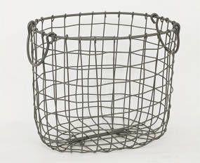 Košík kovový - barva šedá - AN752545