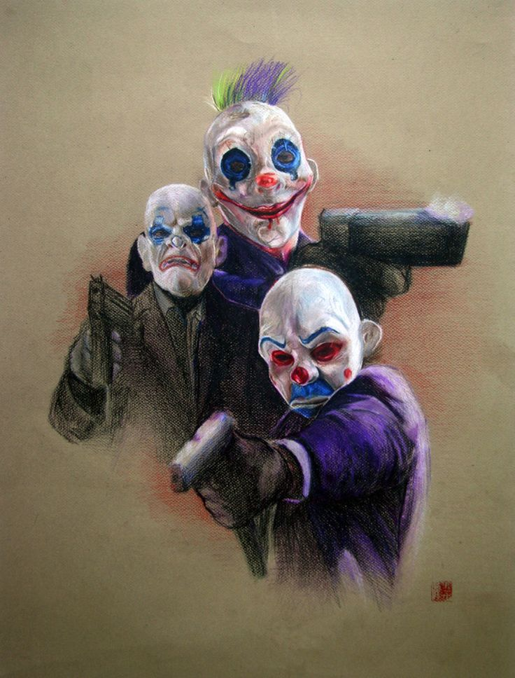 yeah clowns from the dark knight gang of joker in the ...