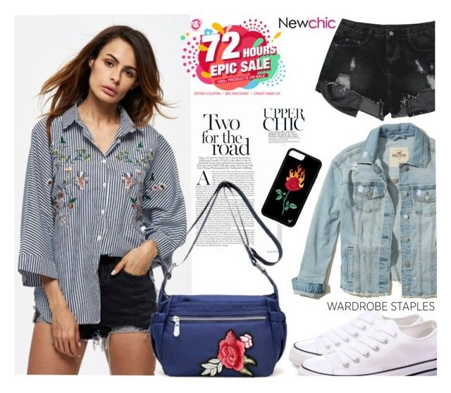 """Newchic-wardrobe staples"" by autumn-soul ❤ liked on Polyvore featuring Hollister Co. and WardrobeStaples"