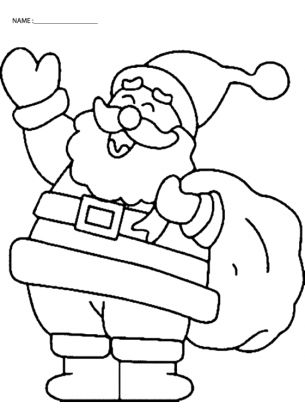 "Are you (or the little ones) looking forward to Christmas already? If so, you are in luck! Check out our Laughing Santa Coloring Pages and ""repin"" if you are as excited about Christmas as we are!"
