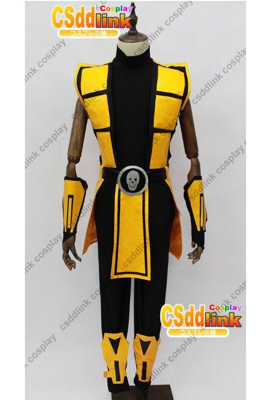 Mortal Kombat 3 Scorpion Cosplay Costume - CSddlink cosplay