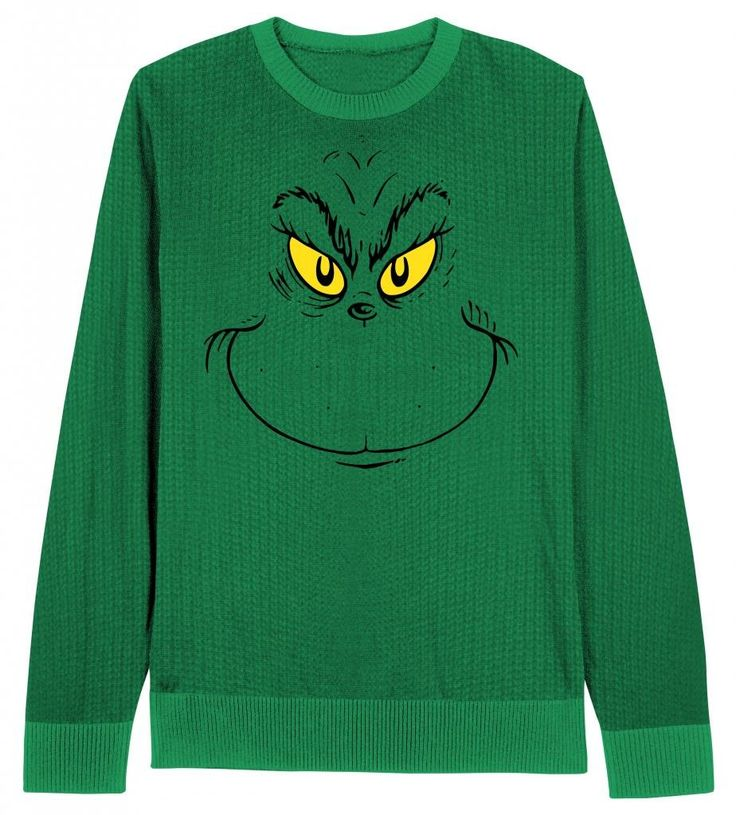 Grinch Face Ugly Christmas Sweater