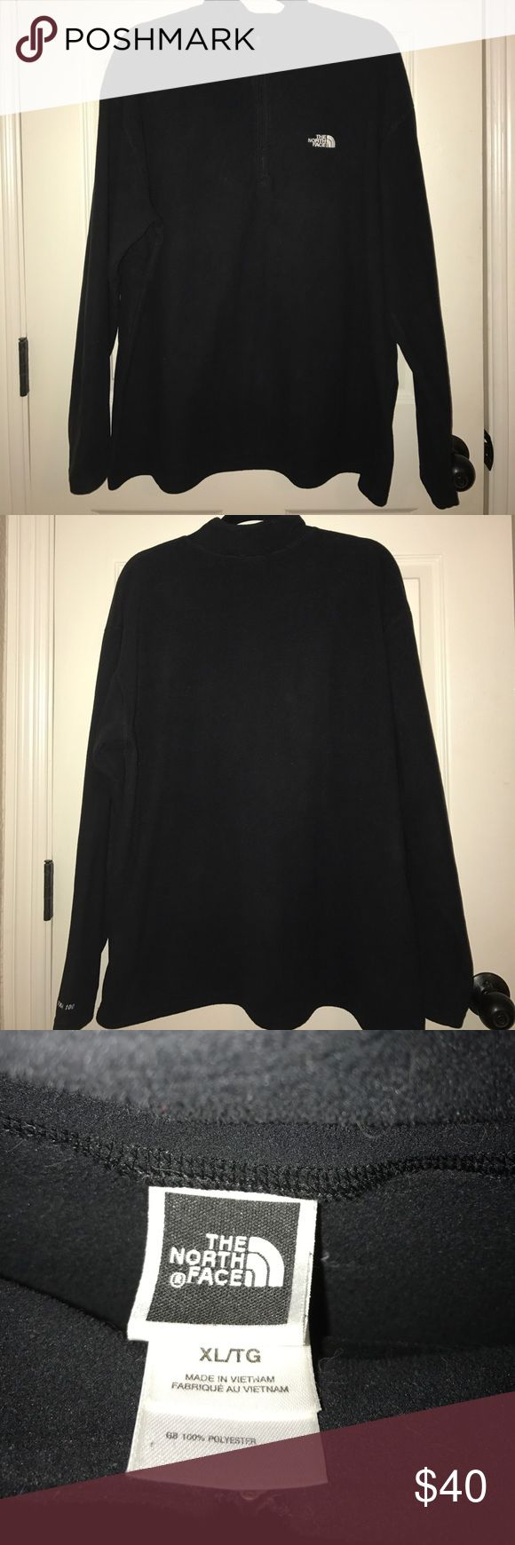 North Face Black Zip-up Pullover Super soft. In perfect condition. North Face Sweaters Zip Up