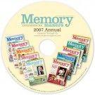 Memory Makers 2007 Annual CD