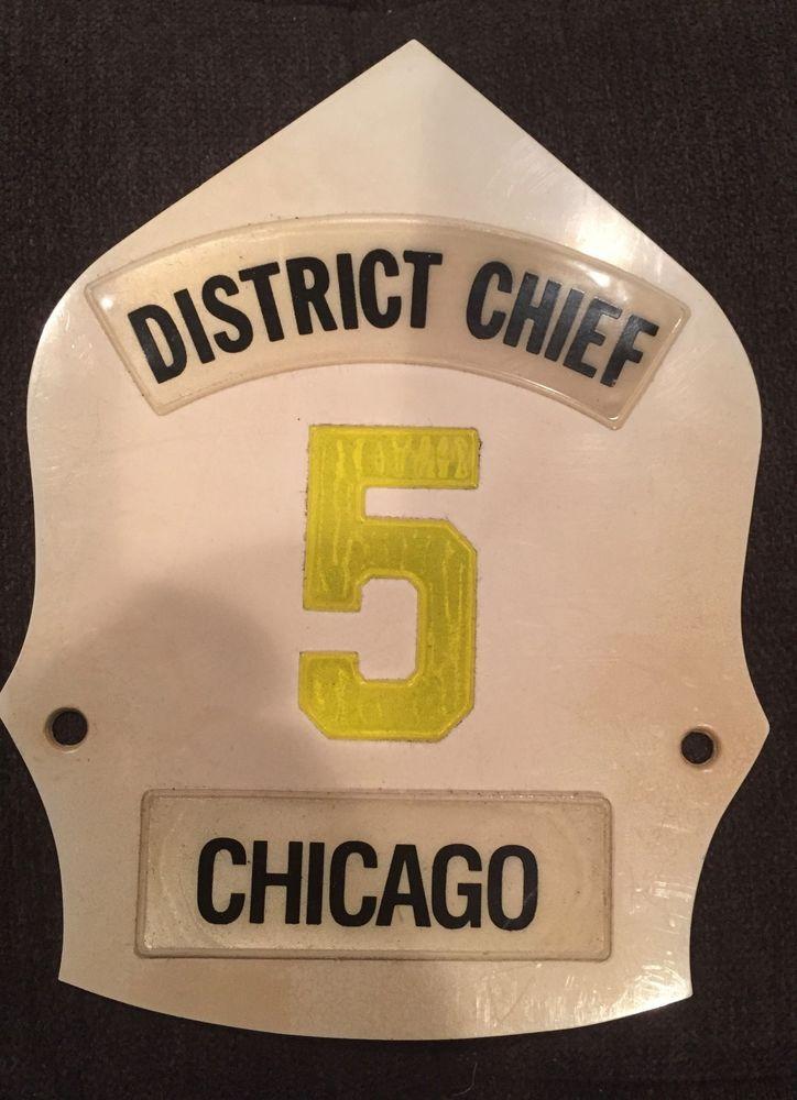 Chicago District Chief Helmet Shield