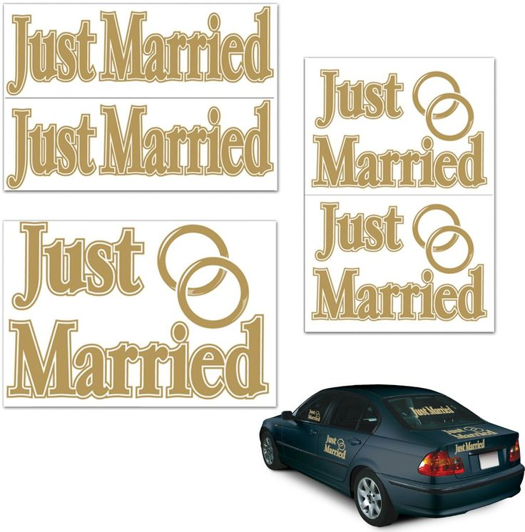 Just Married Auto-Clings - 12 Units