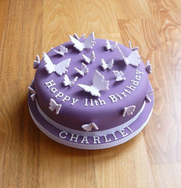 25 best ideas about purple butterfly cake on pinterest - Purple cake decorating ideas ...