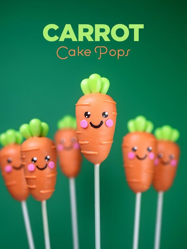 Carrot Cake Pops for Easter. Cake dressed up as cute baby carrots is way more fun than the real vegetable version, right?