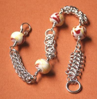 Ode to Val Sterling Silver Sampler Chainmaille Bracelet