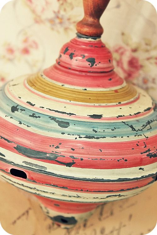 Shabby Vintage Toy Top