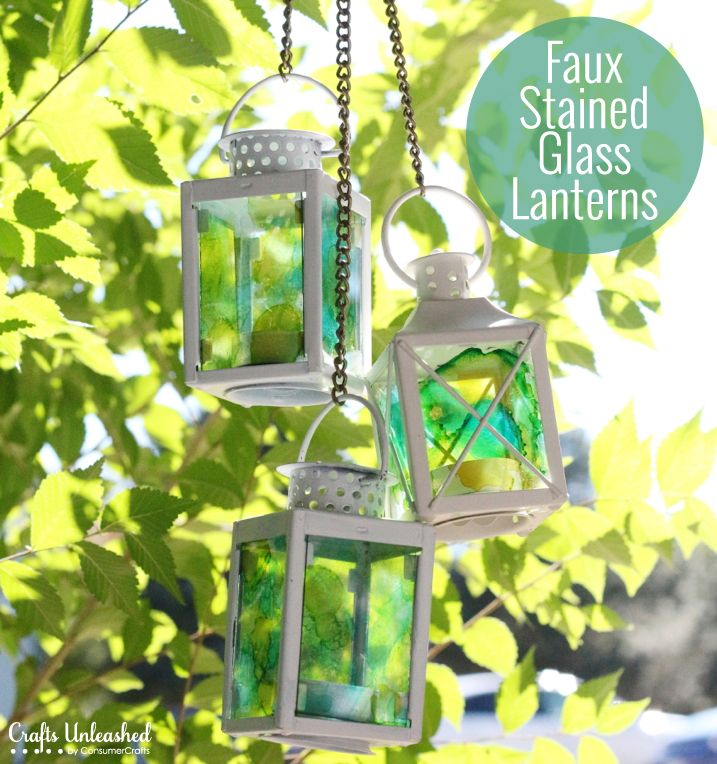 How-to: Faux Stained Glass Lanterns