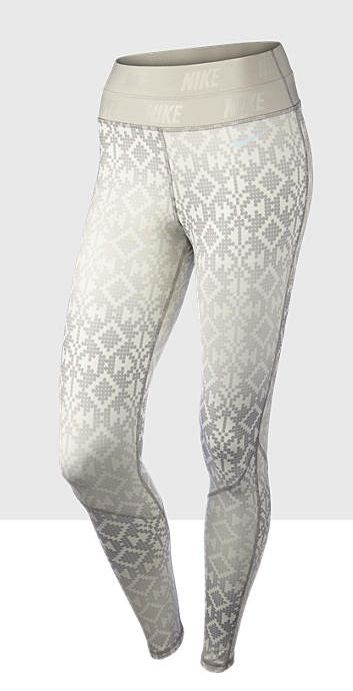 Pro Hyperwarm Print Tights: Formfitting & stylish. #style #gear #nike