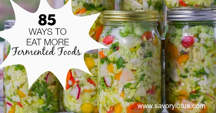 OK, so we all know by now that taking care of the gut is important. And fermented foods are an easy way to do that. Need some inspiration? Here's 85 easy ways to eat more fermented foods.