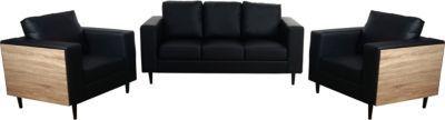 heute-wohnen 3-1-1 Sofagarnitur Nancy, Couch Loungesofa, Holz Eiche-Optik Jetzt bestellen unter: https://moebel.ladendirekt.de/wohnzimmer/sofas/garnituren/?uid=b9002827-a7f4-5da6-b112-6072dea2c0ad&utm_source=pinterest&utm_medium=pin&utm_campaign=boards #garnituren #sofas #wohnzimmer