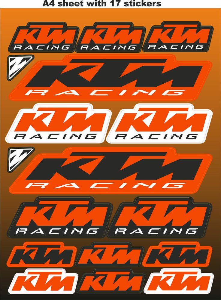 KTM stickers,race stickers, decals,helmet decal,motorcycle ...