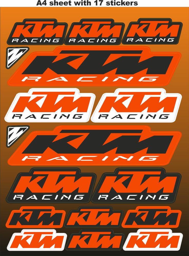 Ktm Stickers Race Stickers Decals Helmet Decal Motorcycle