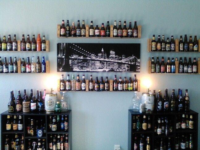 Easy way to display your beer bottles!!