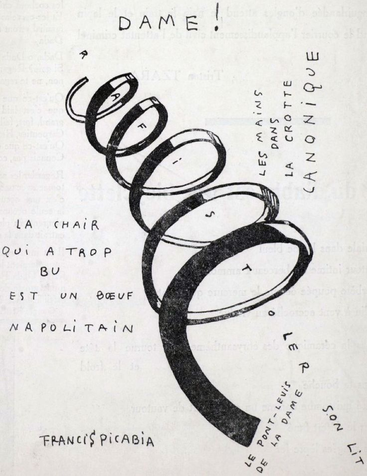 File:Francis Picabia, Dame! Illustration for the cover of the periodical Dadaphone n. 7, Paris, March 1920.jpg - Wikipedia, the free encyclopedia