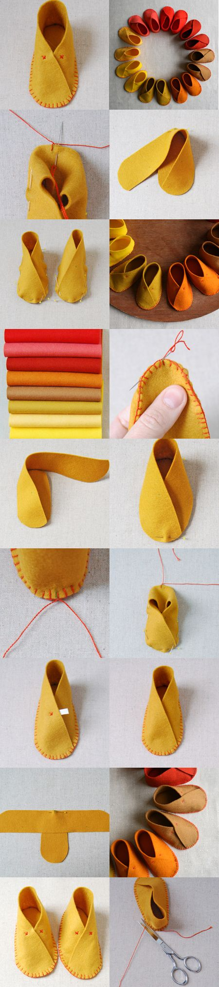 À l'approche de l'automne, voici de si mignons petits chaussons pour bébé ! en feutrine et si faciles à faire ! le tutoriel est disponible ici, avec le patron à télécharger. Avec seulem…