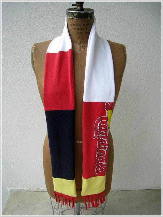 Saint Louis Cardinals T Shirt Scarf / Red White Navy Blue by ohzie, $25.00