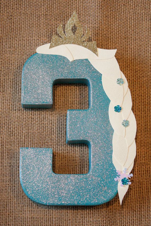 321 best images about frozen party ideas on pinterest for Number 4 decorations