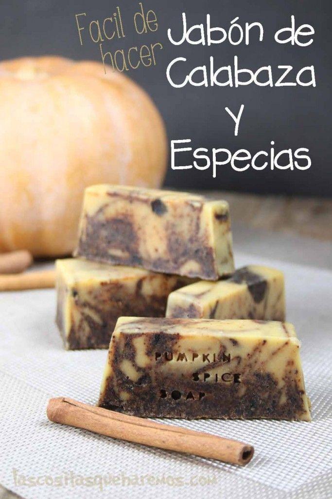 Como hacer un jabón de calabaza y especias, perfecto para el otoño. Es una receta fácil, incluso para principiantes.