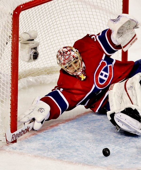 Carey Price, Montreal Canadiens.  This is a heat pic of Carey making a save that could of gone in.  Thank god for Carey Price.  The Canadians would not be where they were today  if Carey wasn't on there team