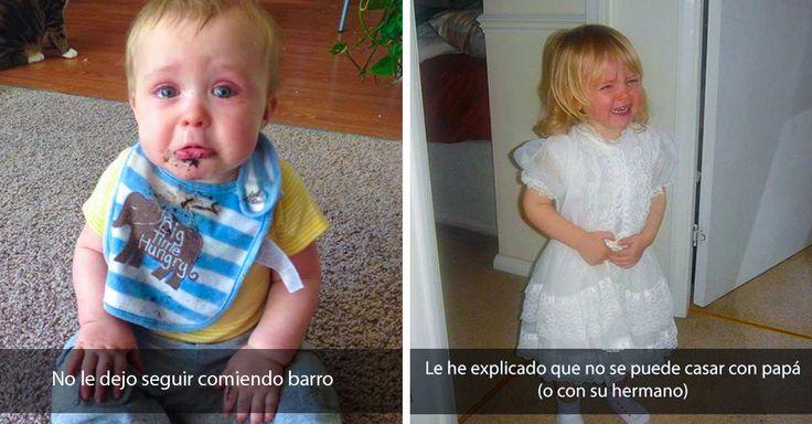 Te compartimos algunas imágenes que usuarios de Reddit subieron, extrañados (y también con humor) por lo que su niño o niña lloraban.
