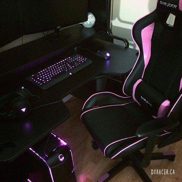 Pink Gaming Setup Gamer Room Gaming Room Setup Game