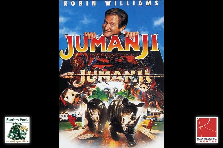 "Planters Bank Presents to show ""Jumanji"" at the Roxy Regional Theatre this Sunday, July 23rd"