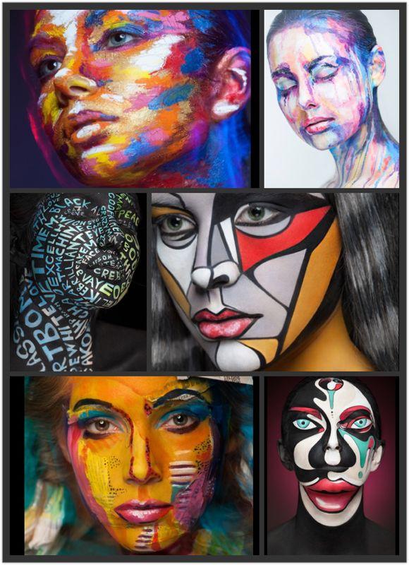 Makeup Artist Valeriya Kutsan 2D or not 2D: Face Paintings