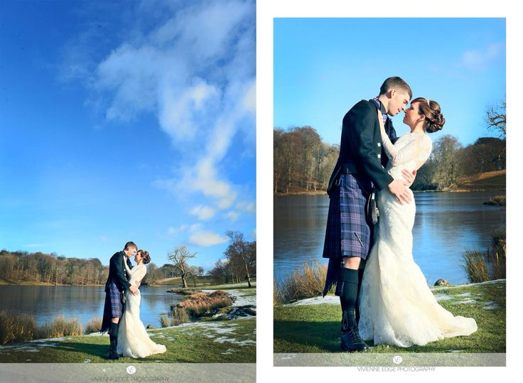 Blue sky on Ella and Colin's wedding day