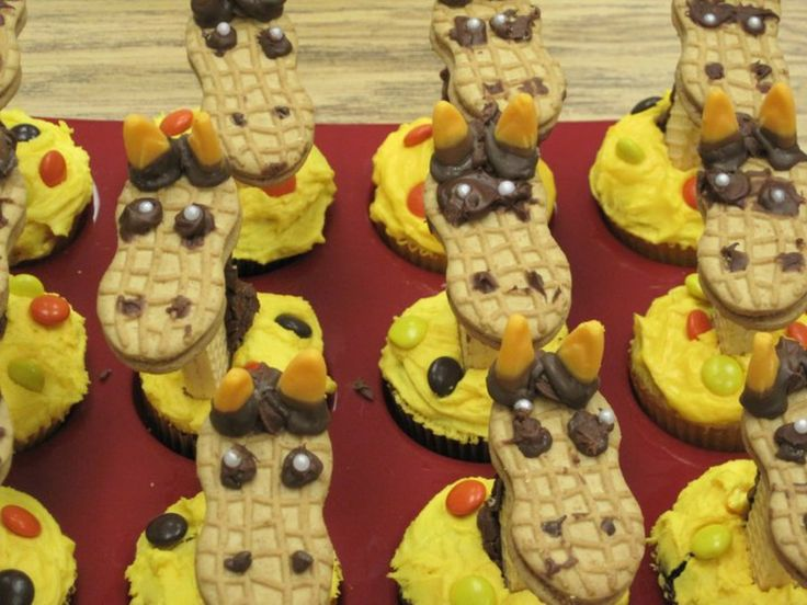 Yum... I'd Pinch That! | Giraffe Cupcakes