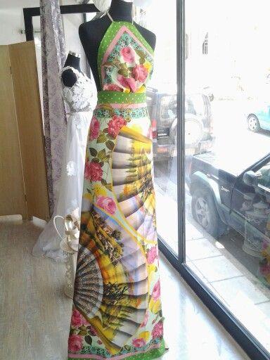 Silk summer dress.
