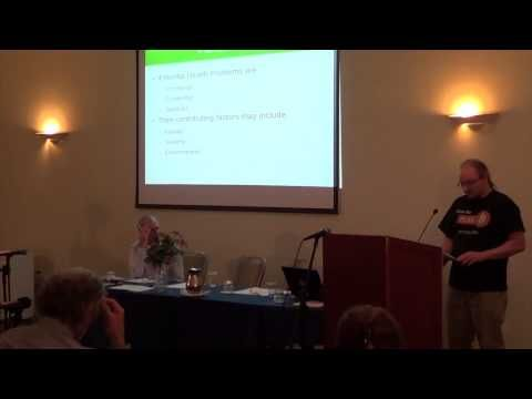 """Gordon Lucas - """"Redefining recovery to rob us of success""""  Mindfreedom Ireland 10th Anniversary Mindfreedom Ireland had it's 10th Anniversary Conference in the Rochestown Hotel on 28th of September 2013."""