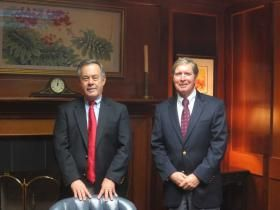 KIMEKO.MCCOY@STAUGUSTINE.COM Frank D. Upchurch III (left) and John D. Bailey, Jr. (right) have been friends since childhood and have served together as specialized lawyers at Upchurch, Bailey & Upchurch for years.
