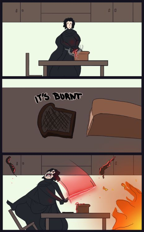 A day in the life of Kylo Ren.<<Srsly he needs to get those temper tantrums under control.