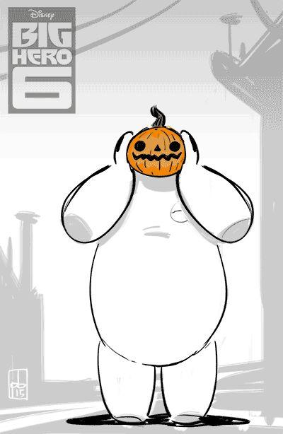 PAUL BRIGGS | I made a little Baymax / Halloween gif! Boomax!