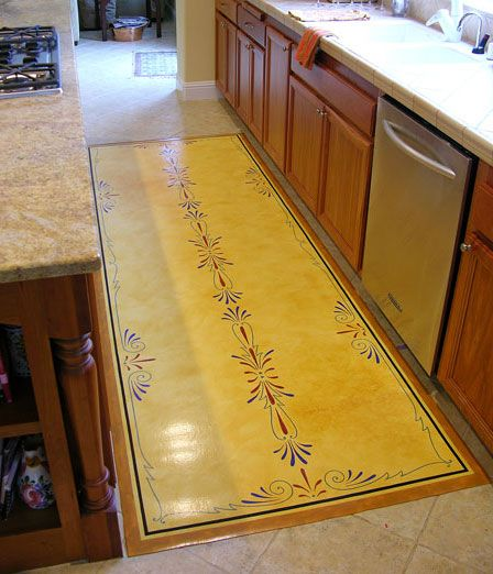 Painted Kitchen Floor Cloth: 239 Best Images About Floor Cloth On Pinterest